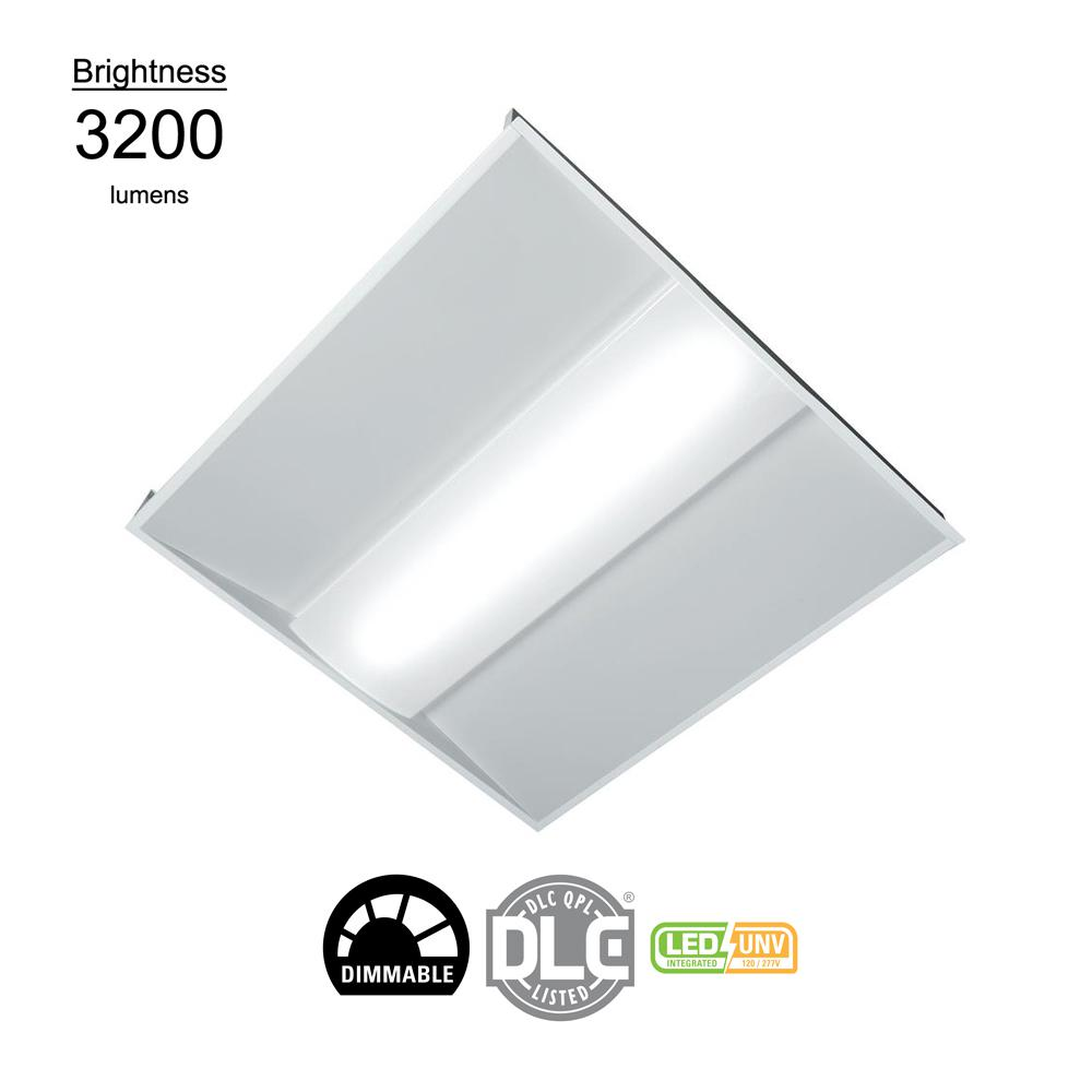 2 ft. x 2 ft. White Integrated LED Architectural Troffer with