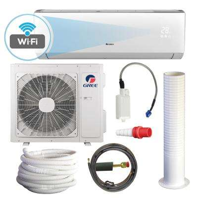 LIVO 18,000 BTU 1.5 Ton Wi-Fi Programmable Ductless Mini Split Air Conditioner with Heat Kit - 230-208V/60Hz