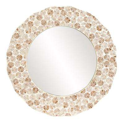 Antigua Round Shell Mirror