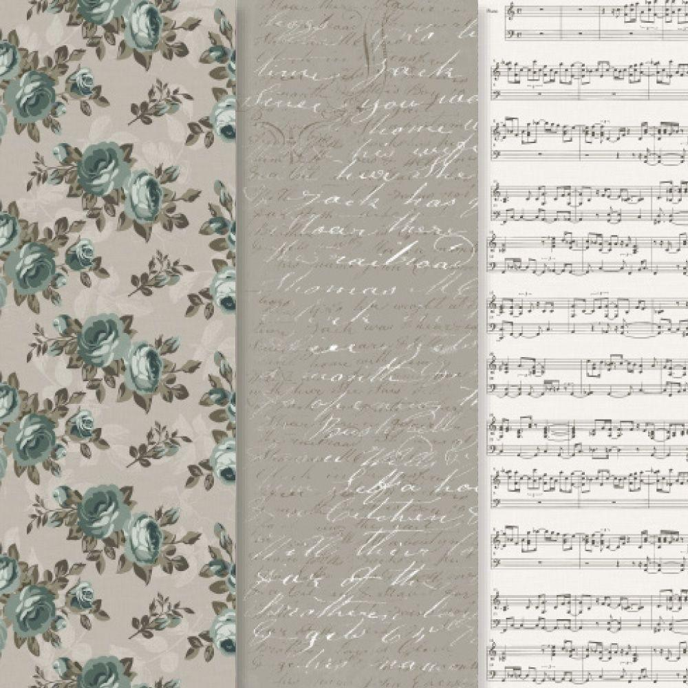 Americana 12 in. x 16 in. Decou-Page Paper Victorian Romance (3-Pack)