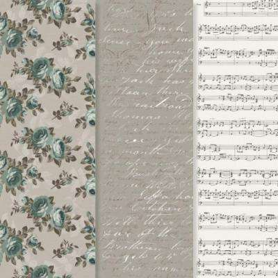 12 in. x 16 in. Decou-Page Paper Victorian Romance (3-Pack)