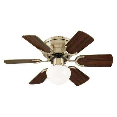Petite 30 in. Antique Brass Ceiling Fan