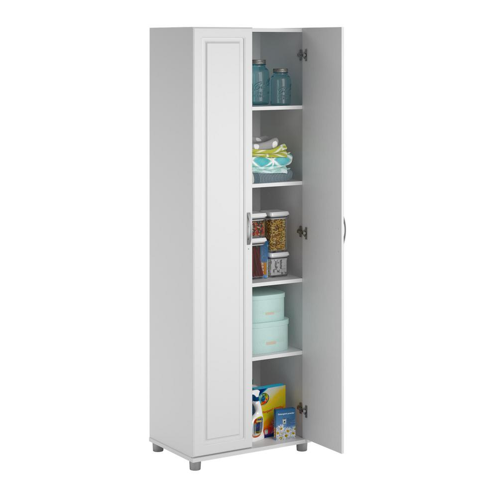 Ameriwood Home Trailwinds White Storage Cabinet