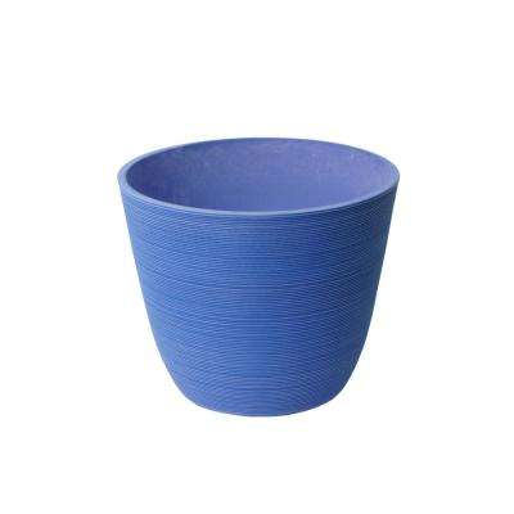 Valencia 11 in. x 14 in. Round Curve Ribbed Lavender Plastic Planter