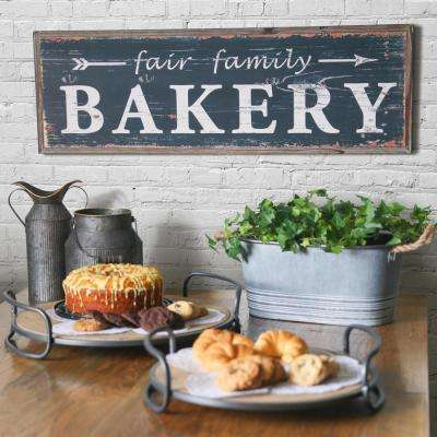 """11.75 in. x 37.00 in. """"Fair Family Bakery"""" Printed Wall Art"""