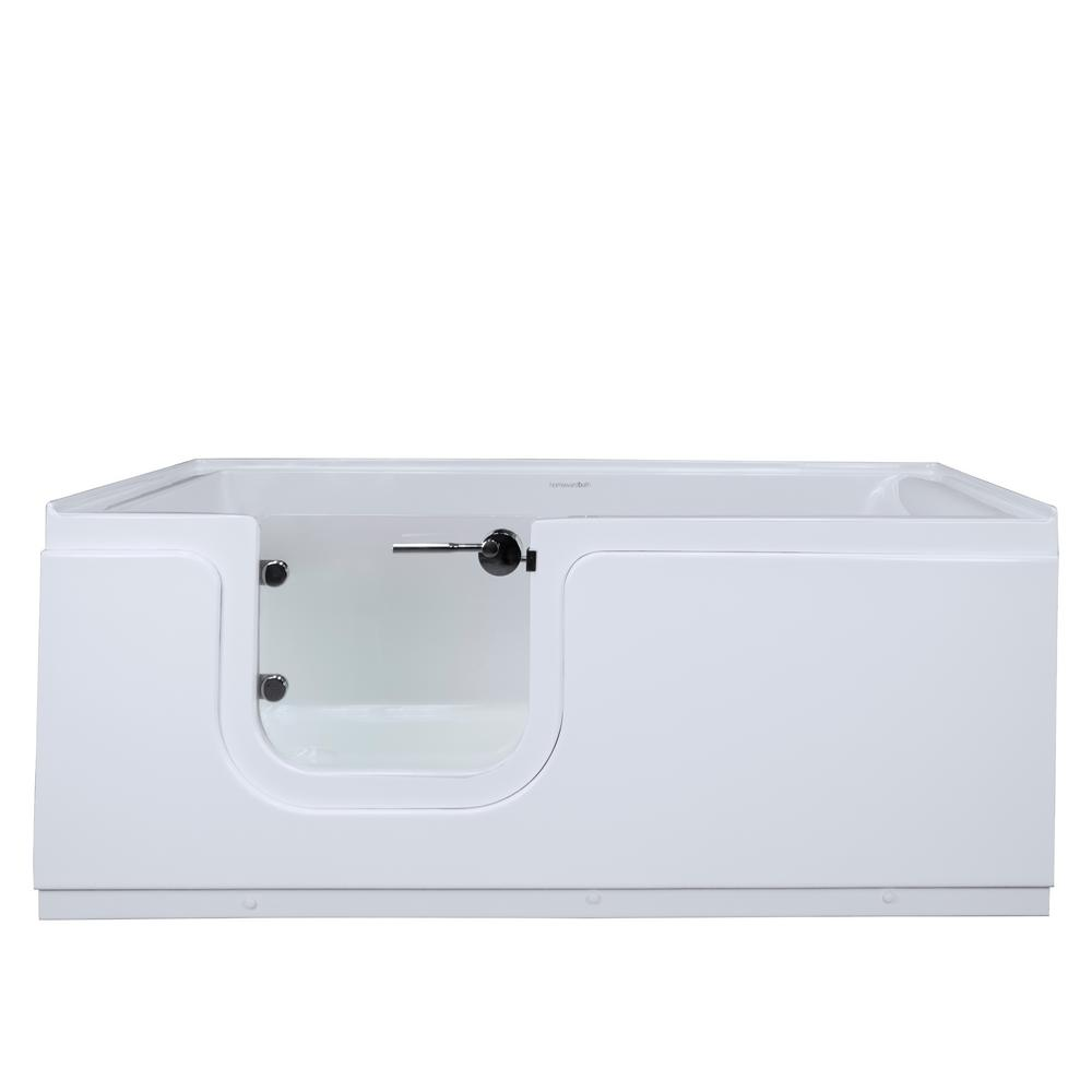Homeward Bath Aquarite 5 ft. Left Drain Freestanding Step-In Bathtub ...