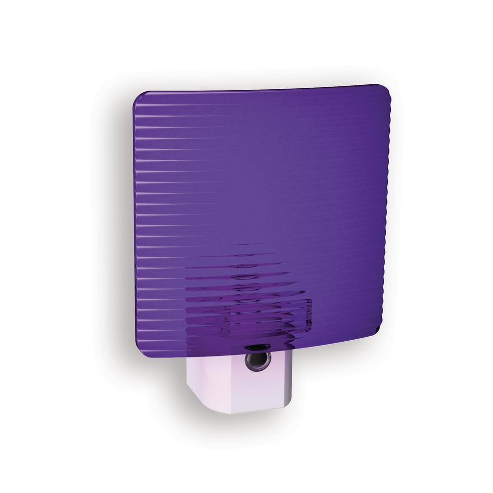 Purple Wave Translucent Screen Automatic LED Night Light