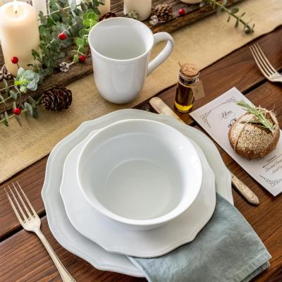 32-Piece Casual White Porcelain Dinnerware Set (Service for 8)