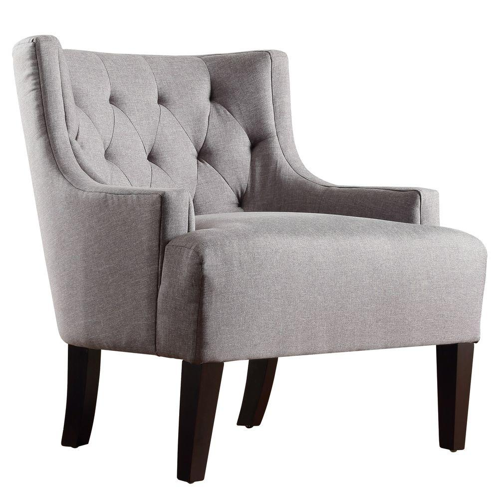 Merveilleux HomeSullivan Lexington Slate Linen Barrel Back Arm Chair