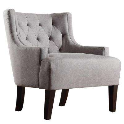 Lexington Slate Linen Barrel Back Arm Chair