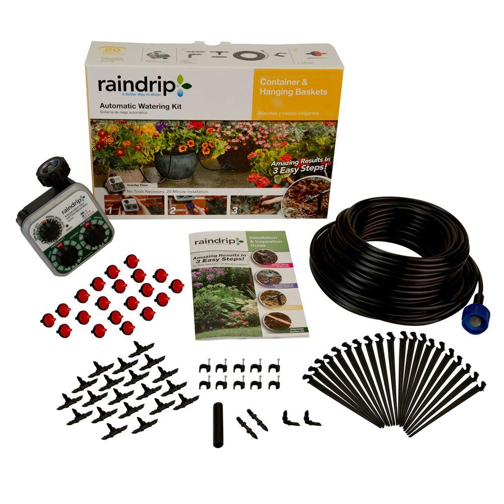 Raindrip Automatic Container And Hanging Baskets Kit