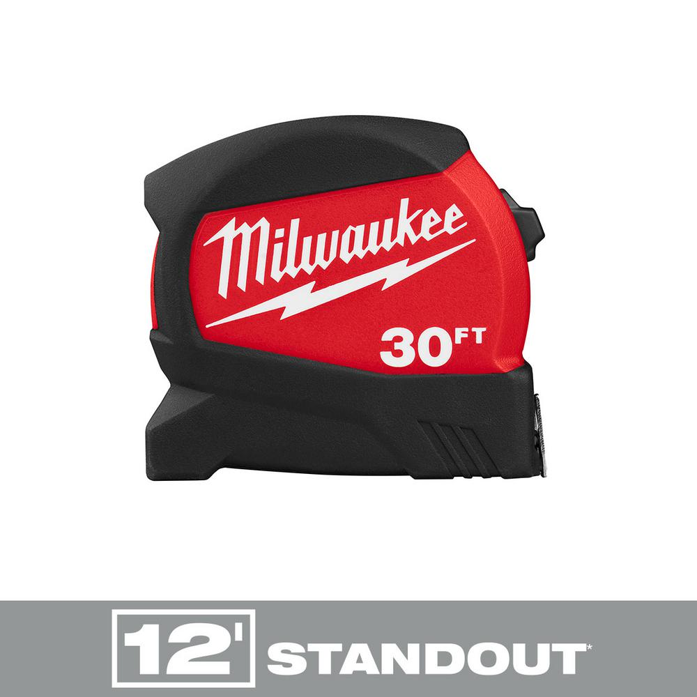Milwaukee 30 ft. x 1.2 in. Compact Wide Blade Tape Measure with 12 ft. Standout