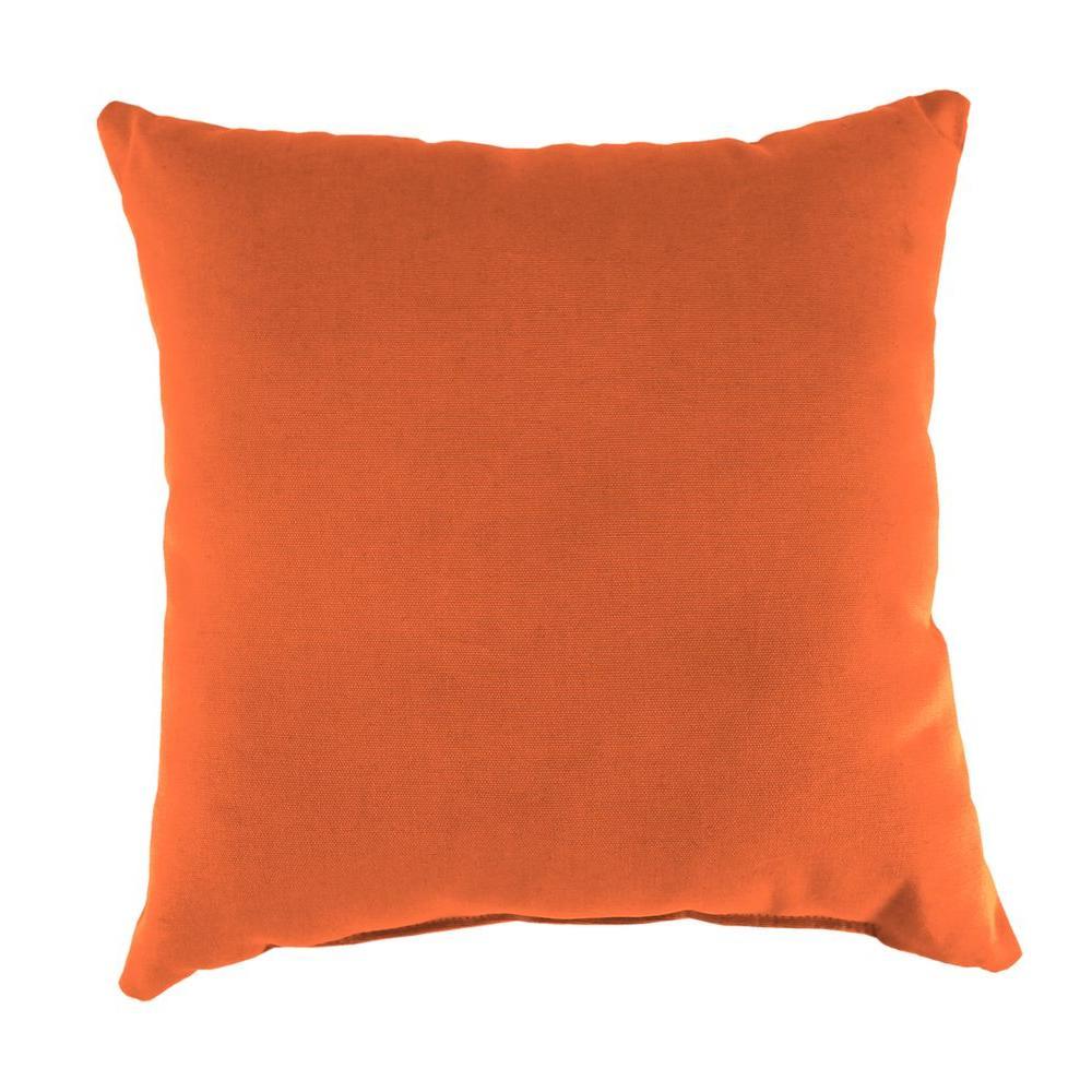 Sunbrella Canvas Tuscan Square Outdoor Throw Pillow