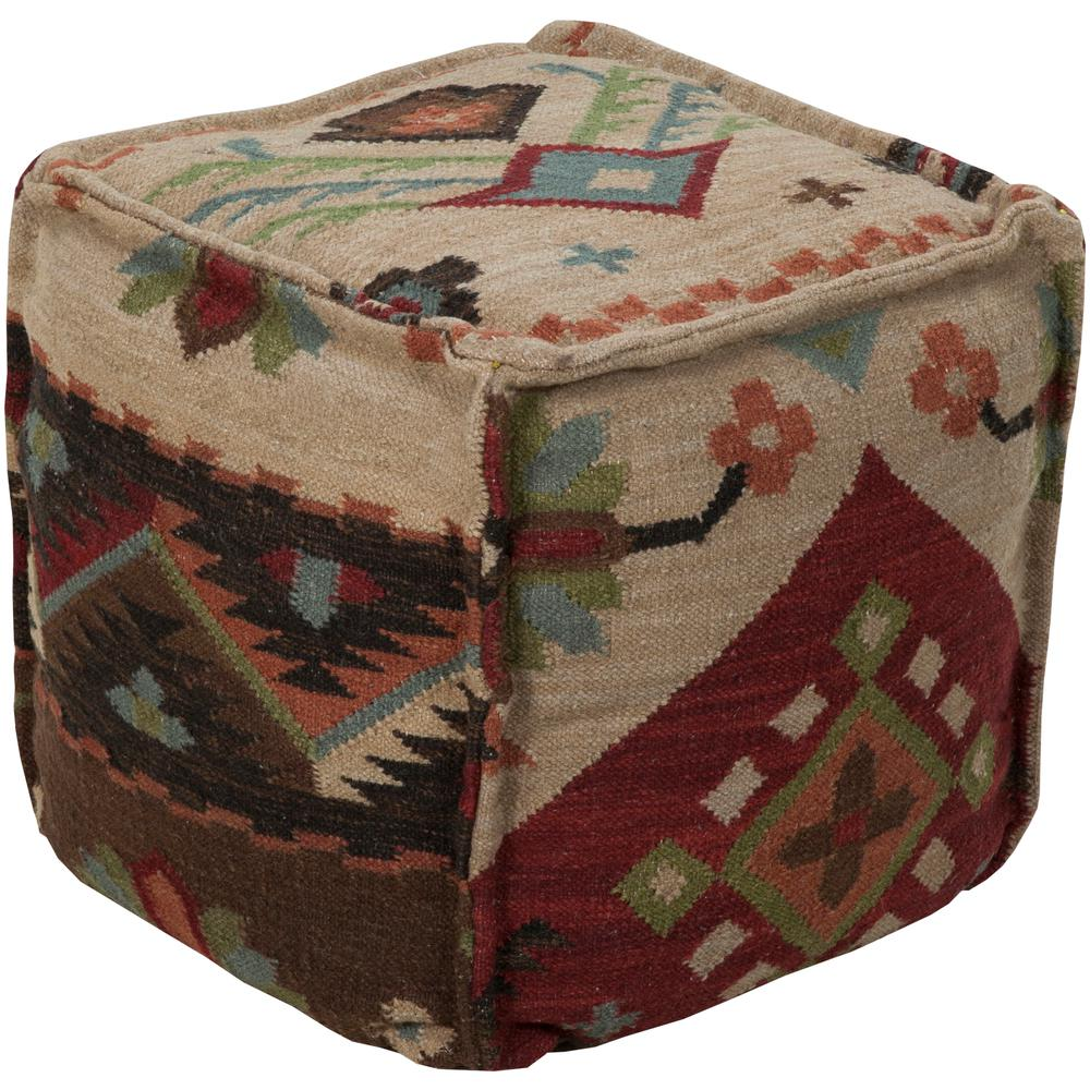 Artistic Weavers Calzada Taupe (Brown) Accent Pouf