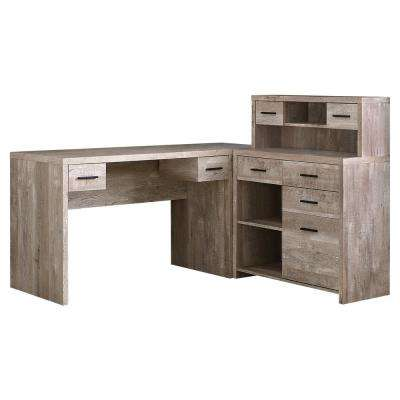 Taupe Computer Desk