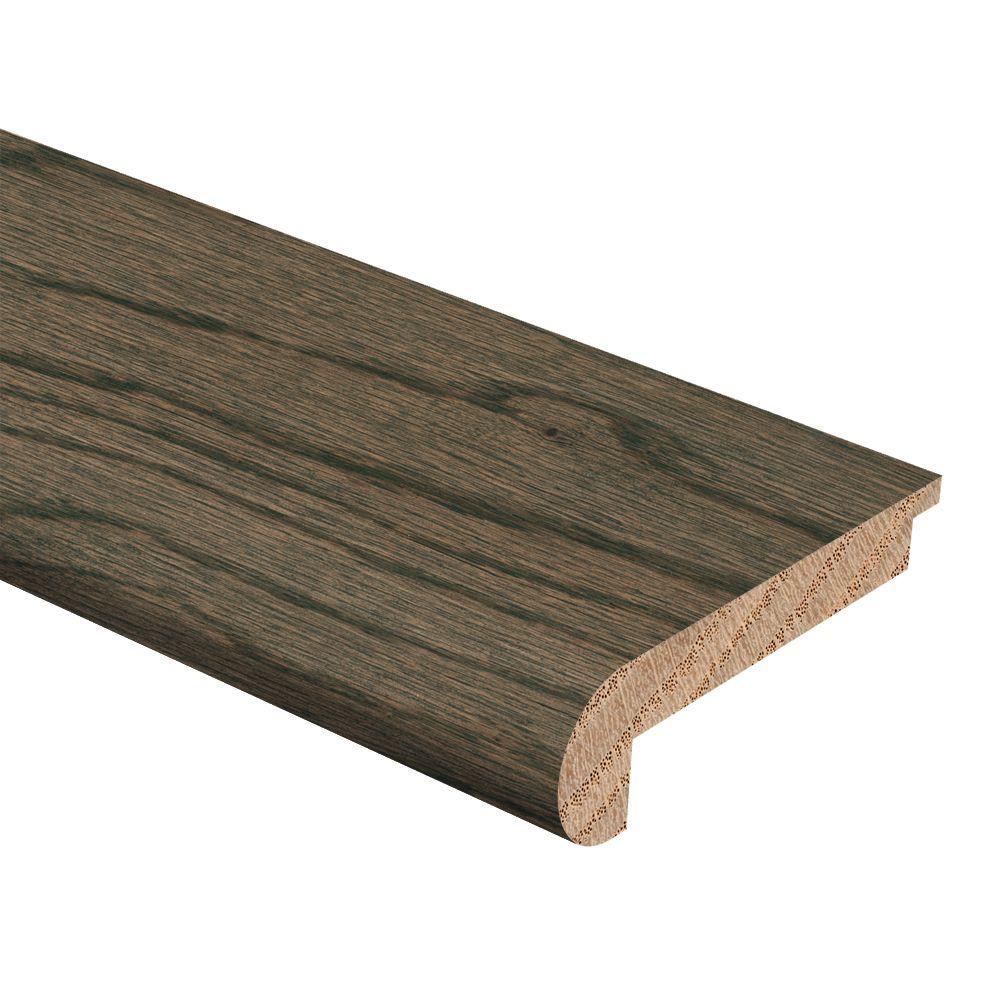 Zamma Coastal Gray Oak 5/16 in. Thick x 2-3/4 in. Wide x 94 in. Length Hardwood Stair Nose Molding