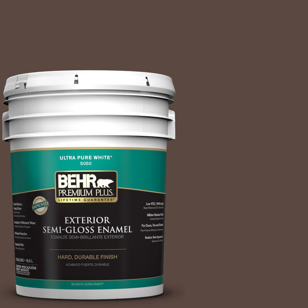 5-gal. #N170-7 Baronial Brown Semi-Gloss Enamel Exterior Paint