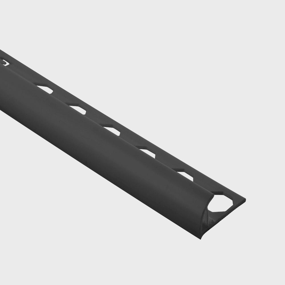 Emac Novocanto Black 1/2 in. x 98-1/2 in. PVC Tile Edging Trim