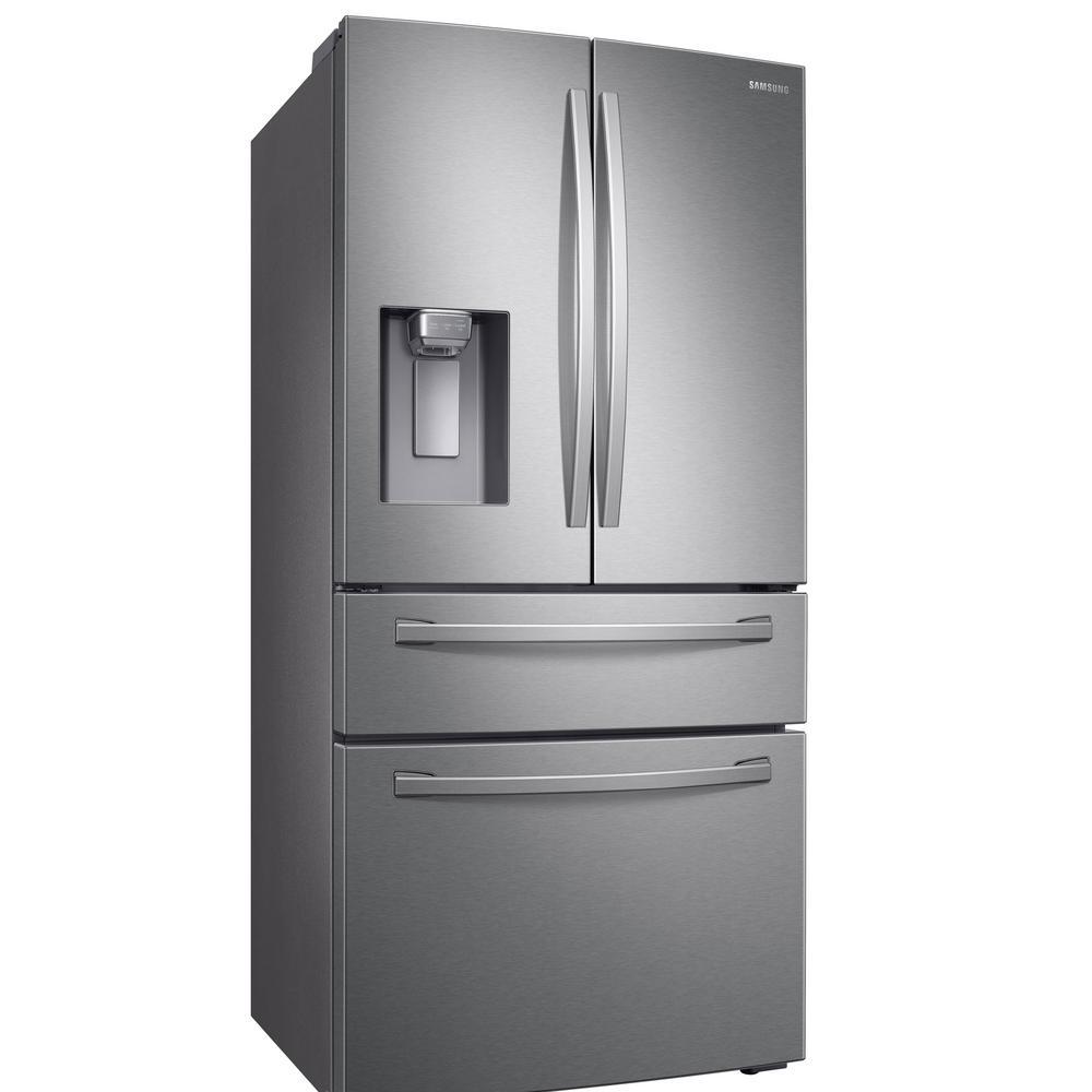Samsung 28 cu  ft  4-Door French Door Refrigerator in Fingerprint Resistant  Stainless Steel