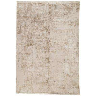 Machine Made Humus 6 ft. x 8 ft. Abstract Area Rug