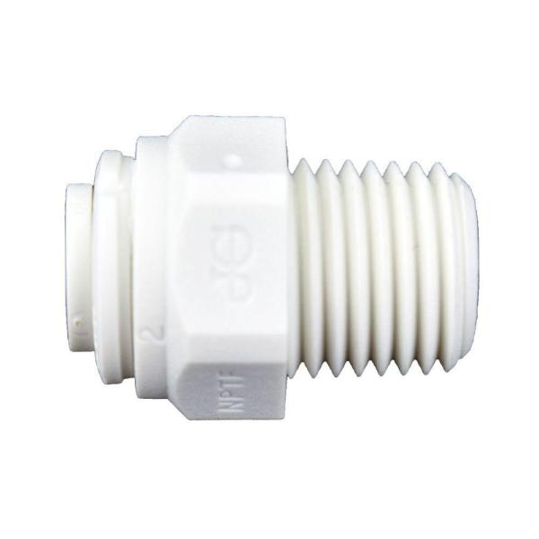 1/4 in. O.D. x 1/4 in. MIP NPTF Polypropylene Push-to-Connect Adapter Fitting