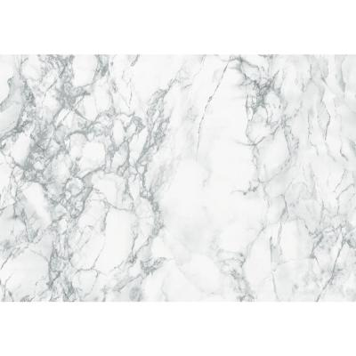 26 in. x 78 in. Marble Grey Self-adhesive Vinyl Film for Furniture and Door Renovation/Decoration