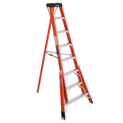 8 ft. Fiberglass Tripod Step Ladder with 300 lb. Load Capacity Type IA Duty Rating