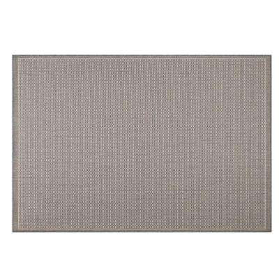 Saddlestitch Grey/Champagne 8 ft. 6 in. x 8 ft. 6 in. Square Indoor/Outdoor Area Rug