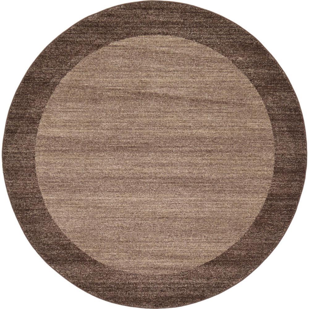 Unique Loom Del Mar Abigail Light Brown 6 0 X 6 0 Round