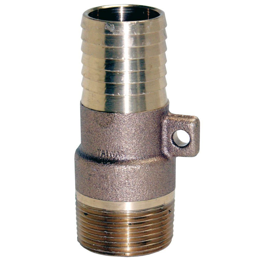 Water Source 1 in. Brass Male Insert Adapter with Rope Loop
