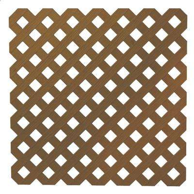 0.2 in. x 48 in. x 8 ft. Brazilian Walnut Privacy Plastic Lattice