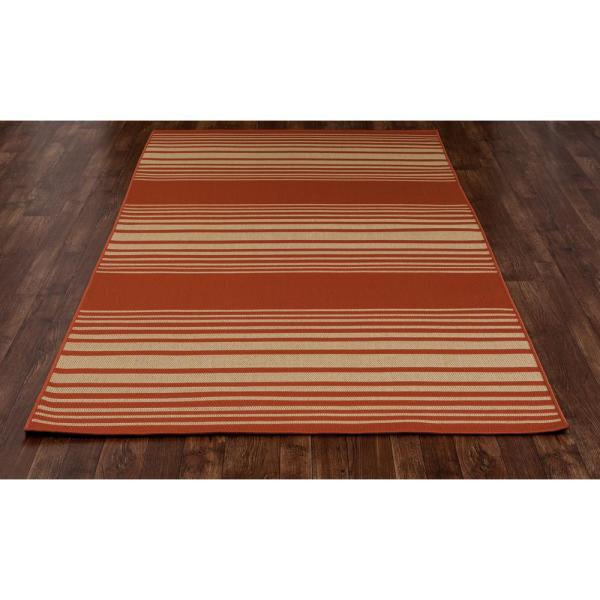 Art Carpet Plymouth Nautical Red 9 Ft