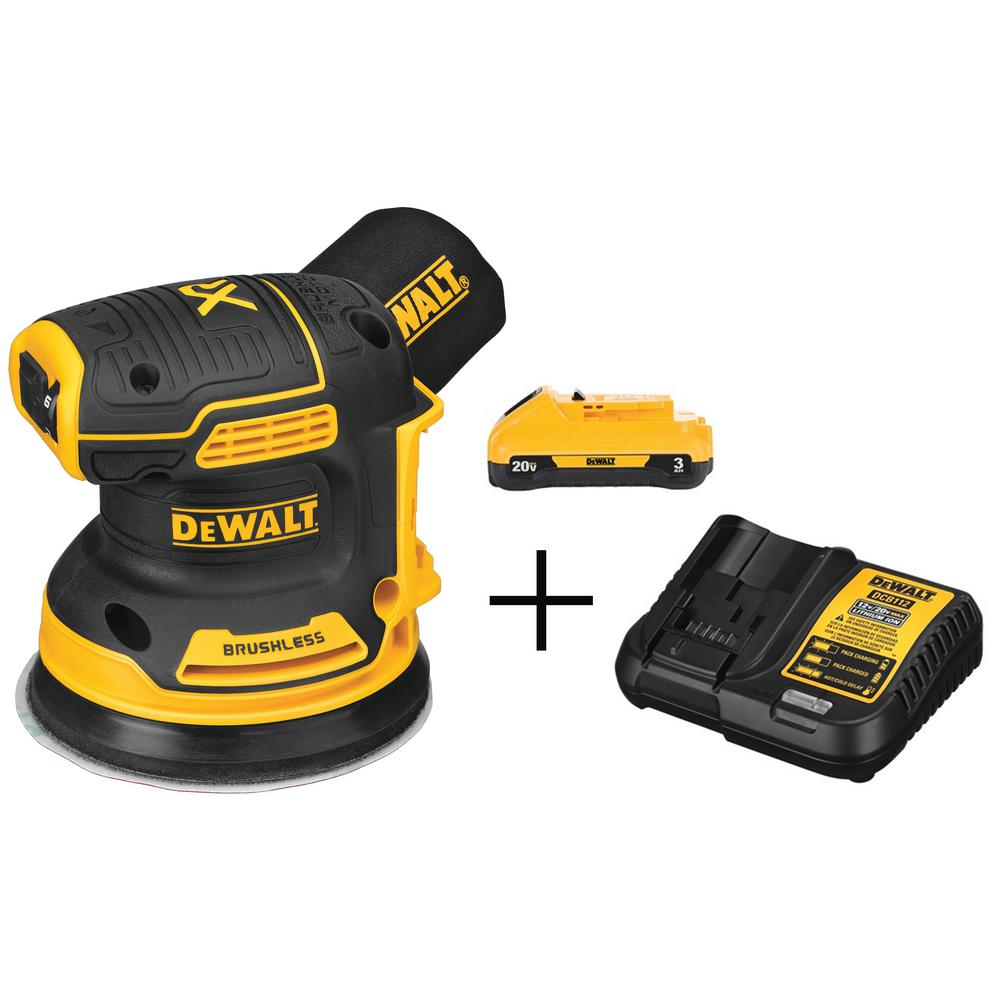 DEWALT 20-Volt MAX Lithium-Ion Cordless Brushless 5 in. R&om Orbital S&er with Free 20-Volt MAX Battery 3.0Ah & Charger was $238.0 now $129.0 (46.0% off)