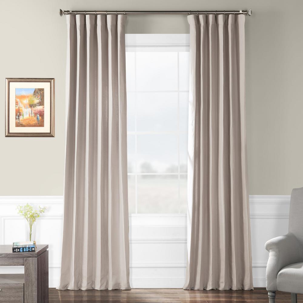 Earl Grey French Linen Curtain - 50 in. W x 96 in. L