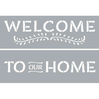 6 in. x 18 in. Welcome Stencil