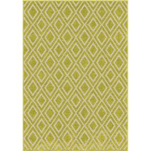 Orian Rugs Diamond Fencing Green 5 ft. 2 inch x 7 ft. 6 inch Indoor/Outdoor Area Rug by Orian Rugs