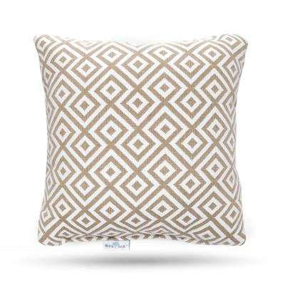 Outdura Elements Burlap Square Outdoor Throw Pillow (2-Pack)