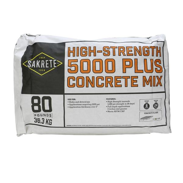 5000 Plus 80 lb. Concrete Mix
