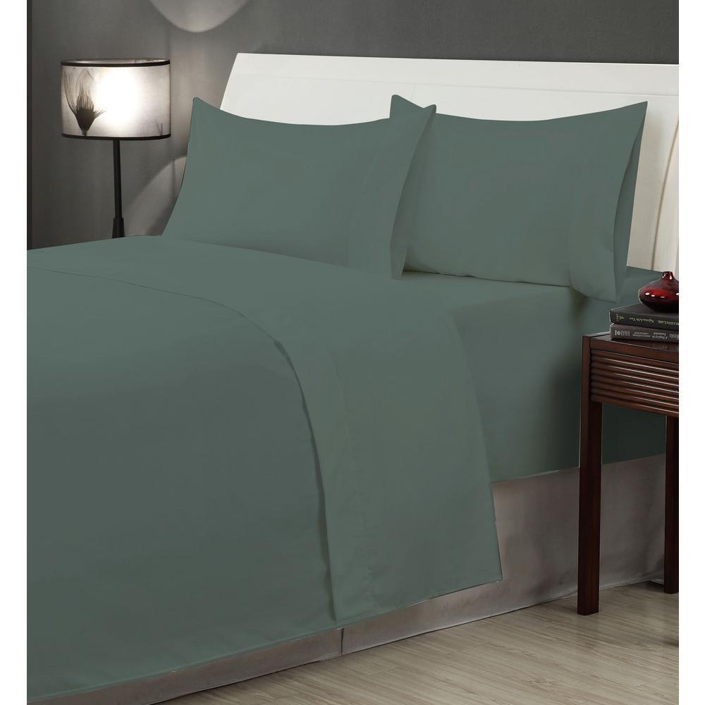 Casual Living Gray Microfiber Twin XL 4-Piece Sheet Set 12905