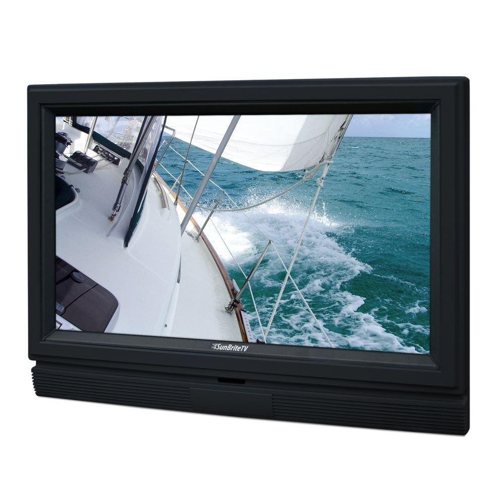 SunBriteTV Signature Series Weatherproof 32 in. Class LCD 720P 60Hz Outdoor HDTV - Black-DISCONTINUED