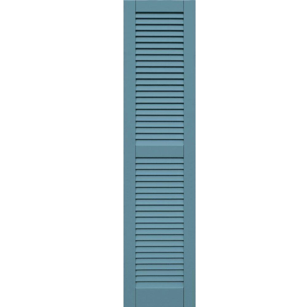 Winworks Wood Composite 15 in. x 64 in. Louvered Shutters Pair #645 Harbor