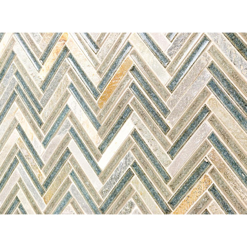 - Ivy Hill Tile Roman Selection Multi-Color Herringbone 10 In. X 11