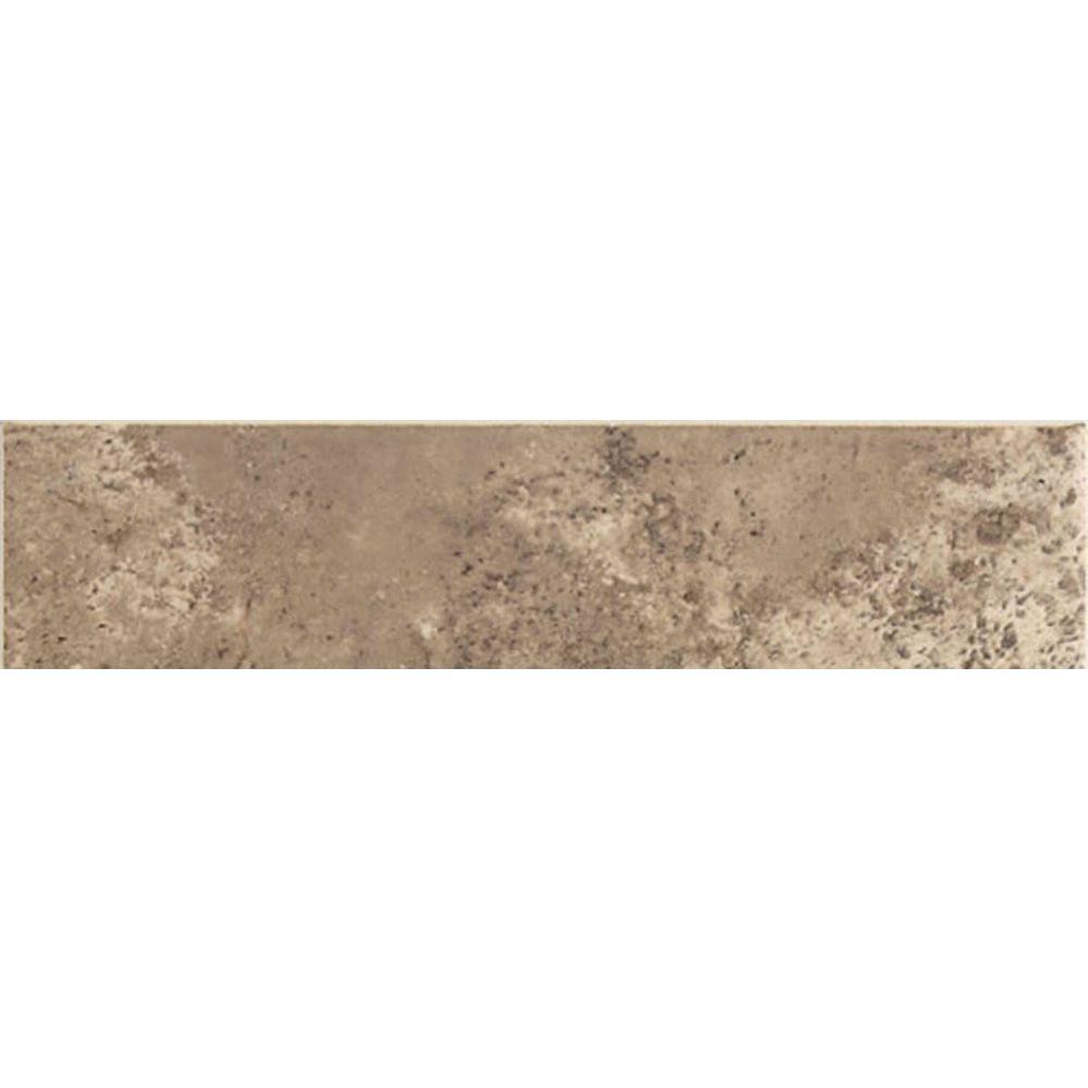 Santa Barbara Pacific Sand 3 in. x 12 in. Ceramic Bullnose Floor and Wall Tile