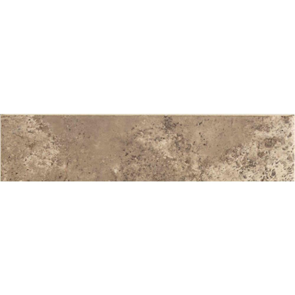 Daltile Santa Barbara Pacific Sand 3 in. x 12 in. Ceramic Bullnose Floor and Wall Tile