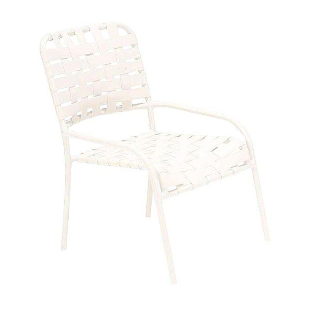 Tradewinds Lido Crossweave Contract White Nesting Gaming Patio Chair (2-Pack)