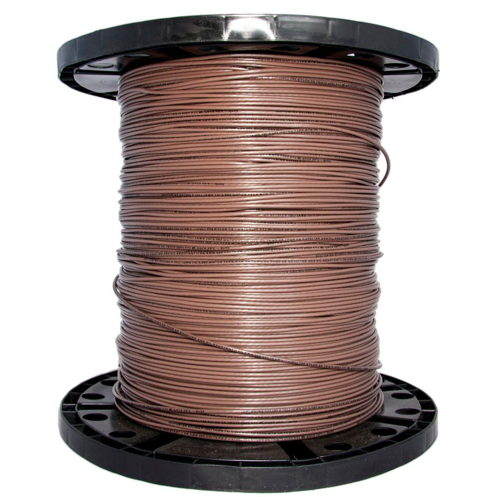 2500 ft. 14 Brown Stranded CU THHN Wire
