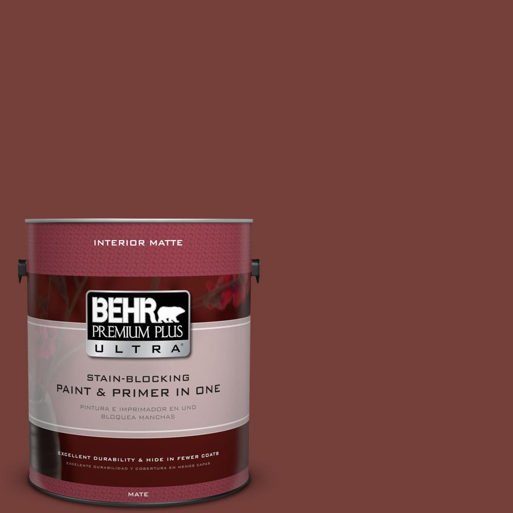 1 gal. #BXC-76 Florence Red Matte Interior Paint
