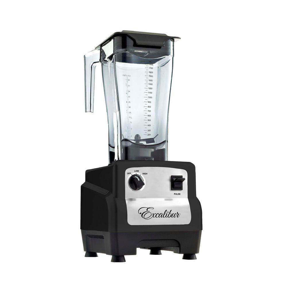 Excalibur 64 oz. 3 HP Commercial Blender in Black-DISCONTINUED