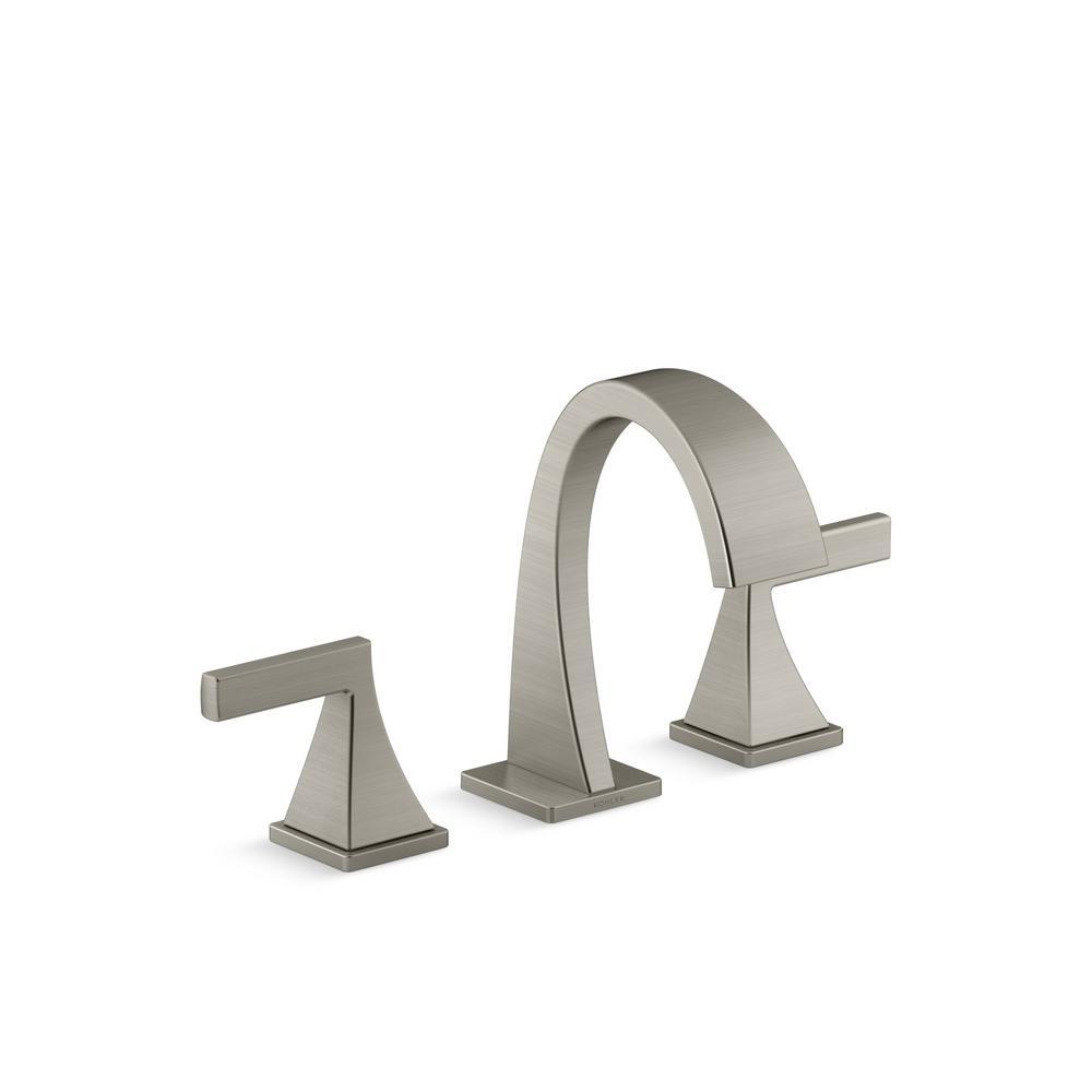 Fine Kohler Katun 8 In Widespread 2 Handle Bathroom Faucet In Vibrant Brushed Nickel Interior Design Ideas Gentotryabchikinfo