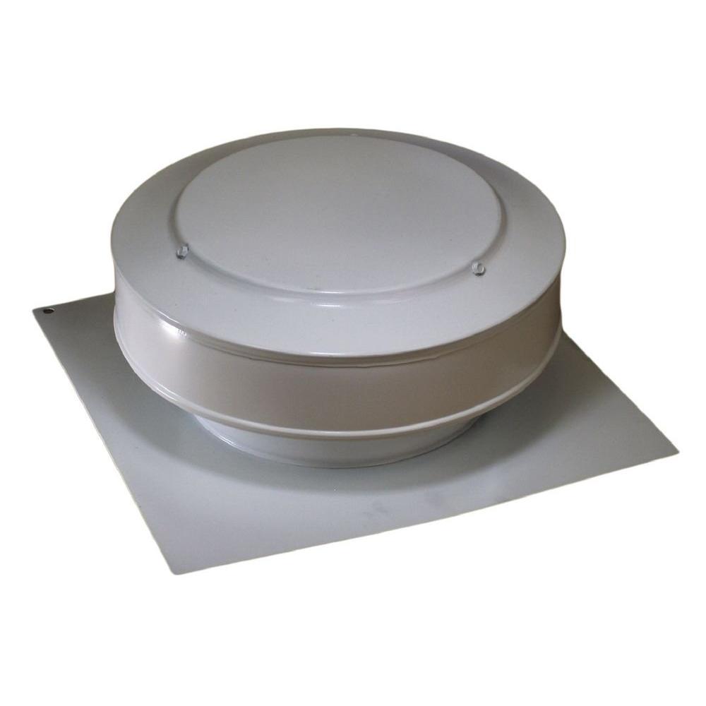 Active Ventilation 13 in. x 5 in. Aluminum 8 in. Dia. Low Profile 50 sq. in. NFA Roof Vent in White Powder Coat